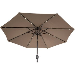 Vern Deluxe Solar Powered LED Lighted 9' Market Umbrella