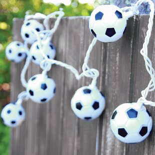 DEI 10-Light 8.5 ft. Soccer Ball String Lights