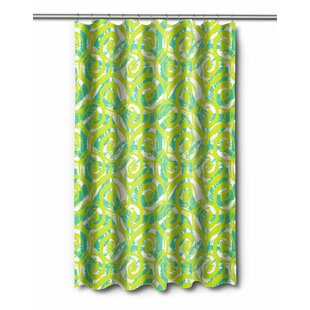 Exceptional Modern Swirls Lime Shower Curtain