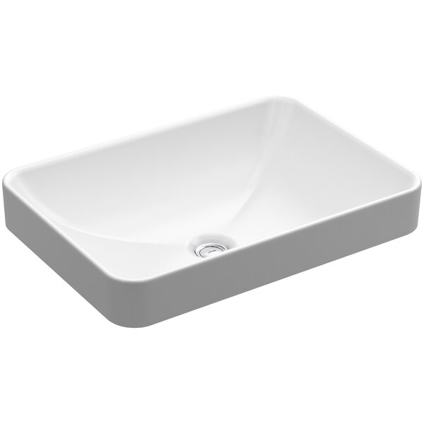 K-5373-0 Kohler Vox Vitreous China Rectangular Vessel Bathroom Sink ...