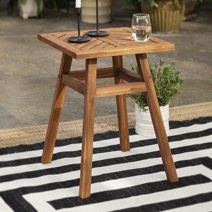 Linda Wooden Side Table By Breakwater Bay