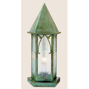 Arroyo Craftsman Saint George Outdoor 1-Light Pier Mount Light