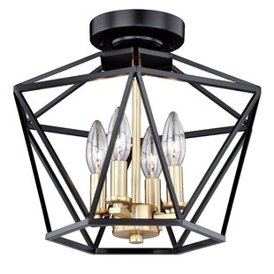 Loggins 4-Light Semi Flush Mount by Ivy Bronx