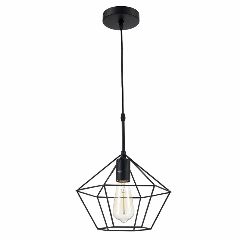 Ohrlighting Zeshoek Hanging Cage 1 Light Geometric Pendant Reviews