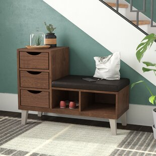 Mercury Row Sperling Faux Leather Storage Bench