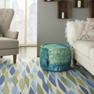 Senter Abstract Pouf by Bungalow Rose
