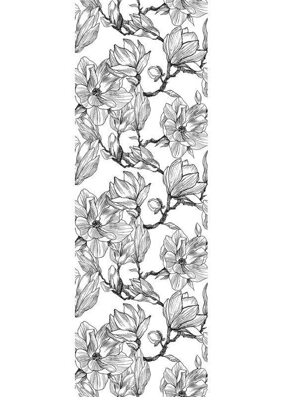 Wrought Studio Zambrano Removable Hand Drawn Flower 8 33 L X 25 W Peel And Stick Wallpaper Roll Wayfair