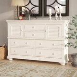 Morpeth 6 Drawer Combo Dresser by Three Posts™
