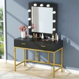 Brodnax Vanity with Mirror by Mercer41