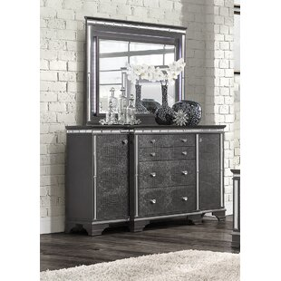 Landgraf 4 Drawer Combo Dresser with Mirror by Everly Quinn