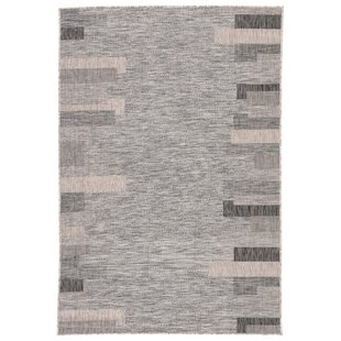 Nikea Jaipur Living Gray/Black Indoor/Outdoor Area Rug
