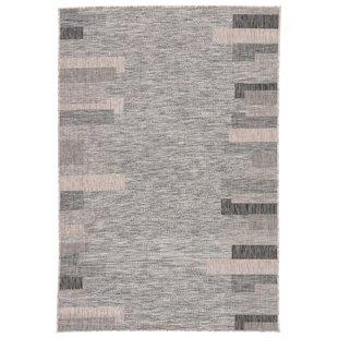 Nikea Jaipur Living Gray/Black Indoor/Outdoor Area Rug