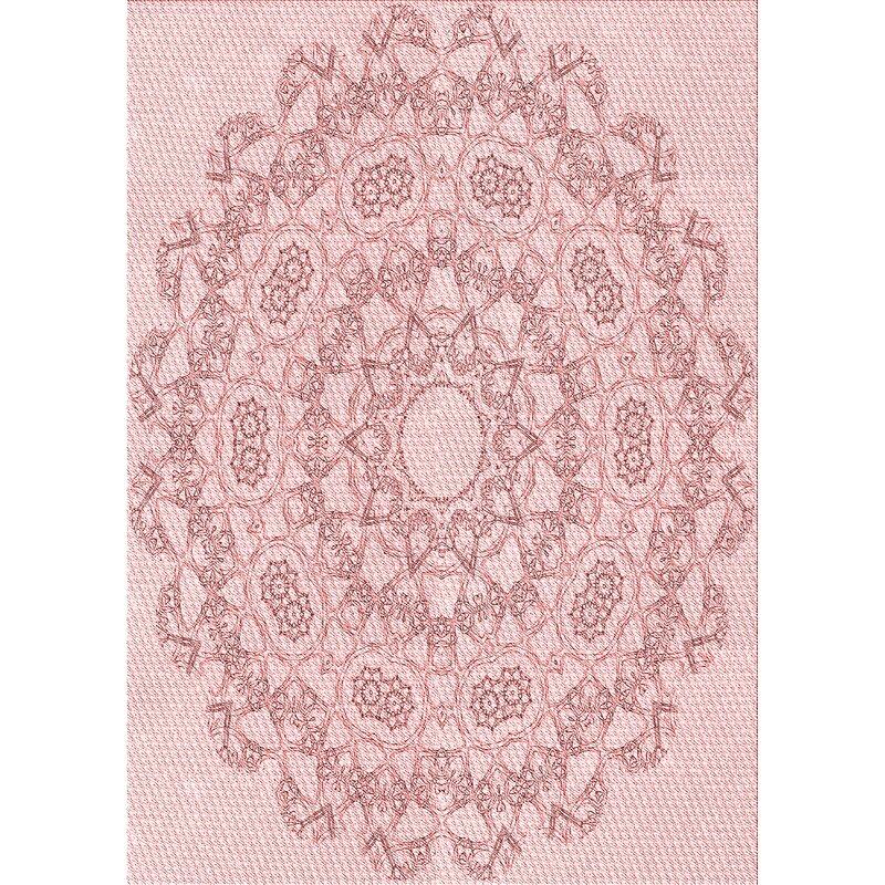 East Urban Home Scandia Oriental Wool Light Pink Brown Area Rug Wayfair
