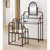 Martello Vanity Set with Mirror by Canora Grey