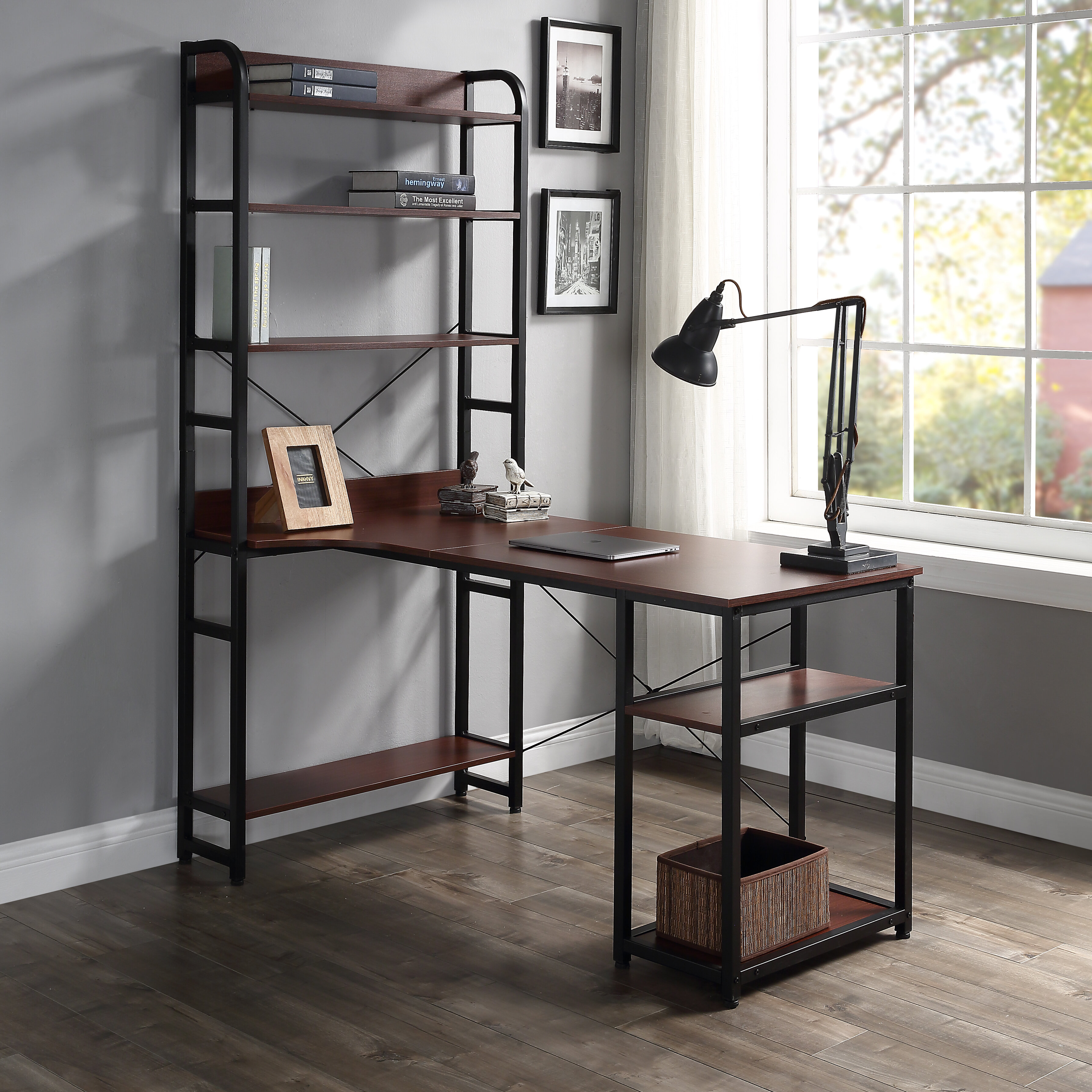 - Latitude Run Computer Desk With Hutch Wayfair