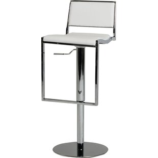Belafonte Adjustable Height Swivel Bar Stool Wade Logan
