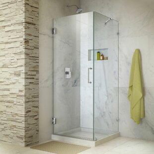 Unidoor Lux 30.38 x 72 Hinged Frameless Shower Door with Clear Max Technology by DreamLine