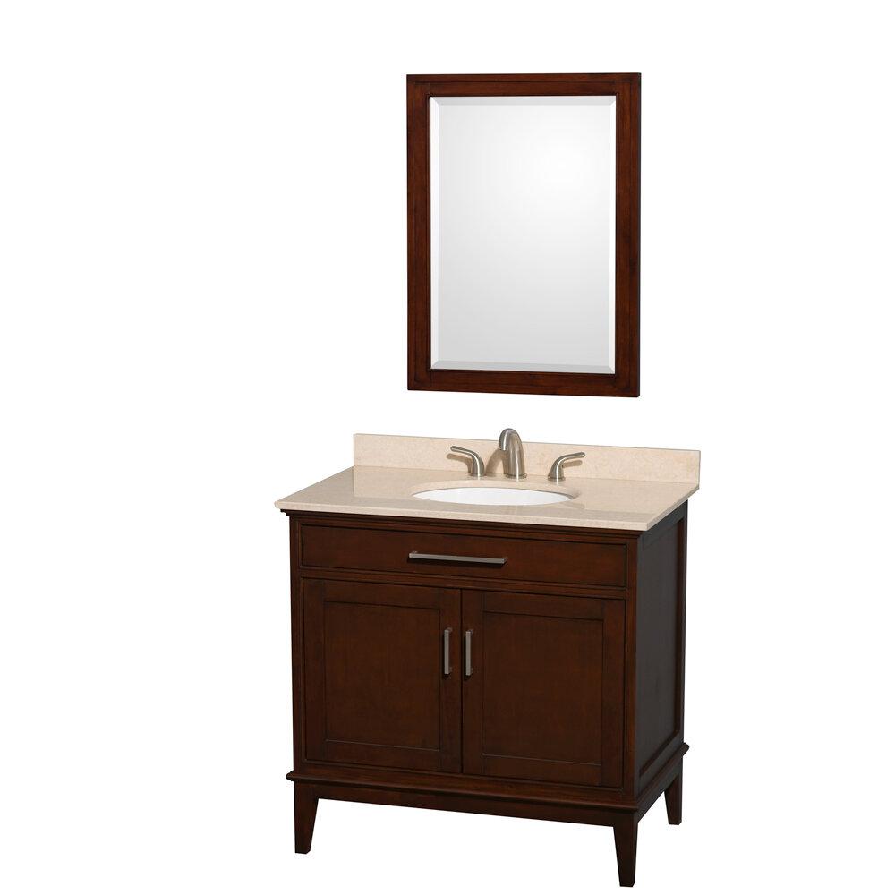 Wyndham Collection Hatton 36 Single Bathroom Vanity Set With Mirror Wayfair