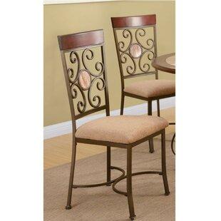 Fleur De Lis Living Glade Intriguing Upholstered Dining Chair (Set of 2)