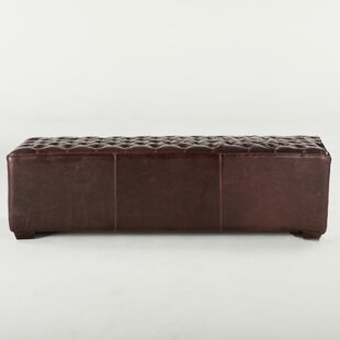 World Interiors Arabella Leather Bench