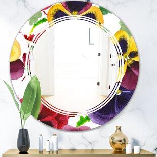 Triple C Floral Botanical VIII Cottage Americana Frameless Wall Mirror