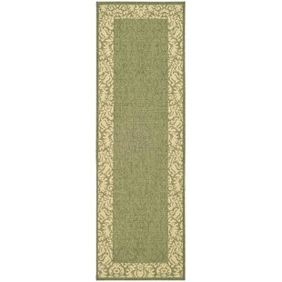 Marland Olive/Natural Outdoor Area Rug by Charlton Home