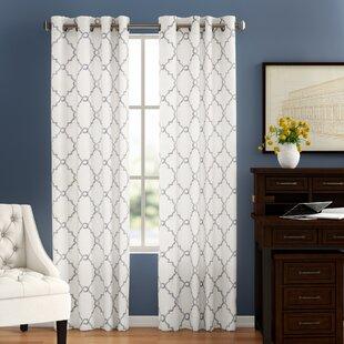Winner Geometric Semi Sheer Grommet Curtain Wayfair