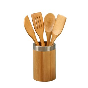5 Piece Harless Bamboo Cooking Utensil Set