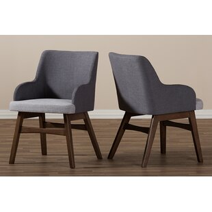 Purchase Paulette Two-Tone Upholstered Dining Chair (Set of 2) by Brayden Studio Reviews (2019) & Buyer's Guide