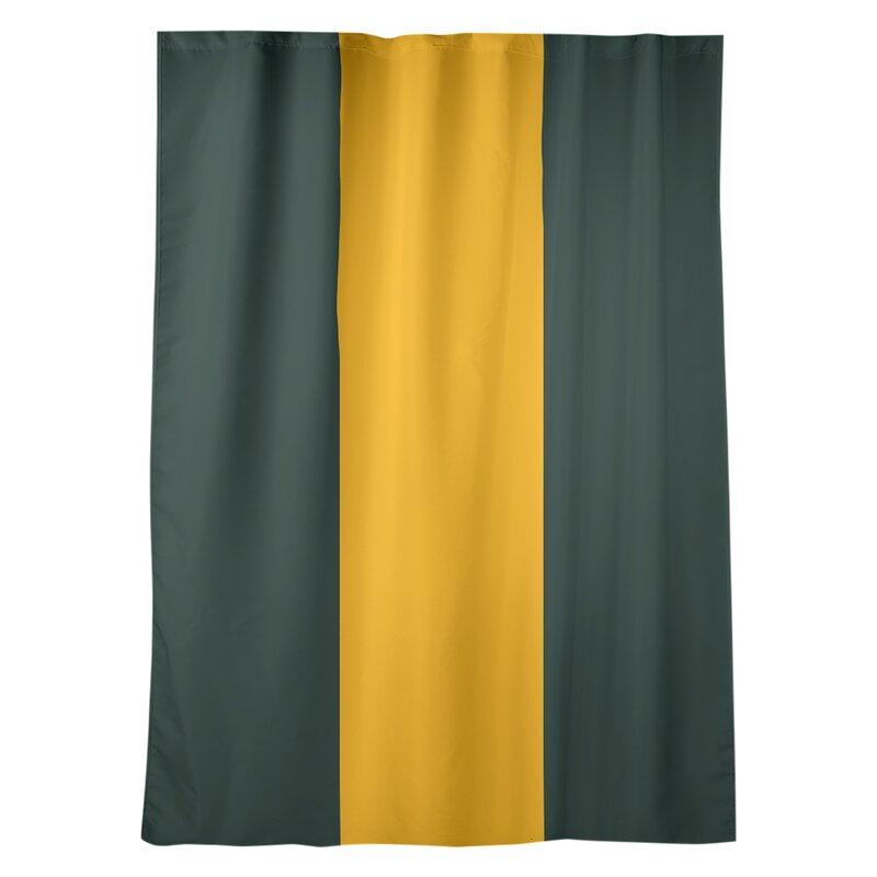 East Urban Home Green Bay Football Stripes Room Darkening Rod Pocket Single Curtain Panel Wayfair Ca