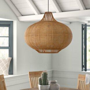 Toey 1-Light Globe Pendant by Mistana