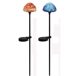 Mushroom 1 Light LED Pathway Light (Set of 2)