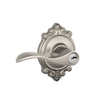 Accent Lever with Brookshire Trim Keyed Entry Lock by Schlage