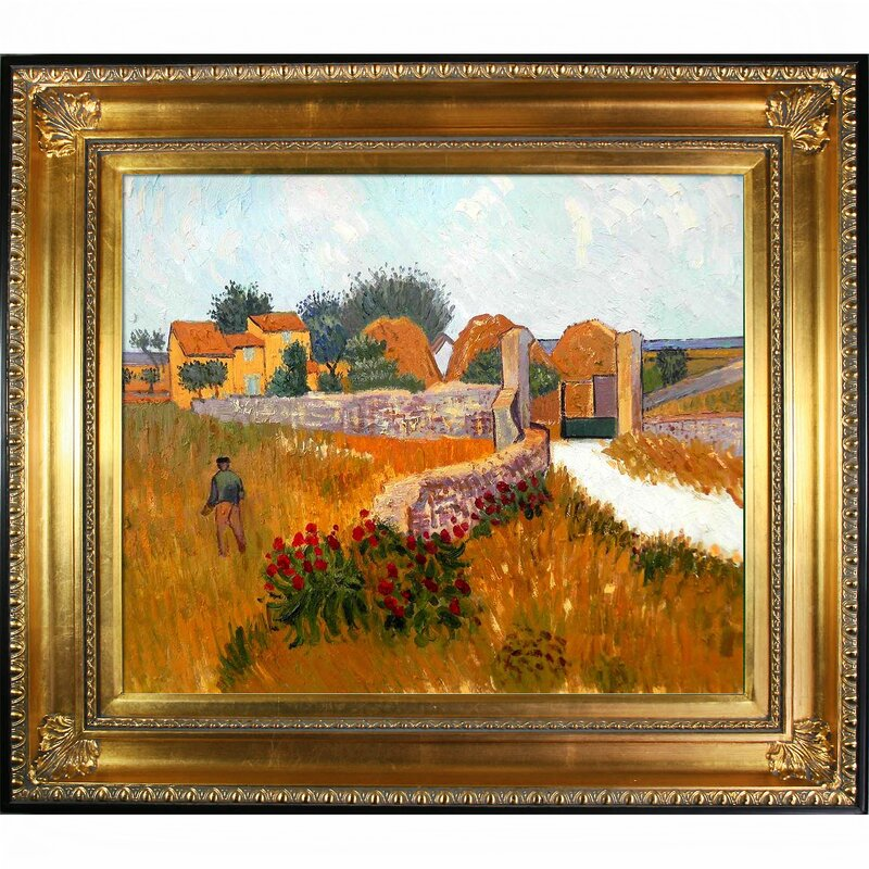 Popular Tori Home Farm House in Provence by Vincent Van Gogh Framed  EH55