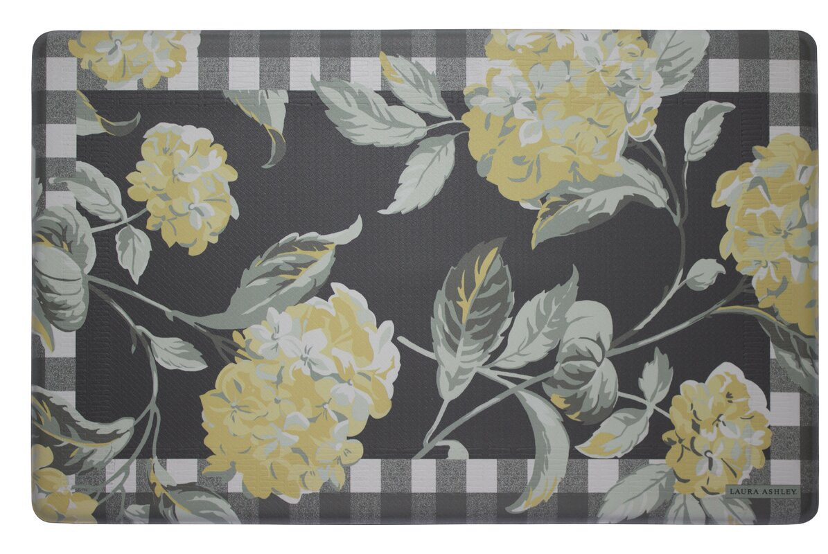 laura ashley home hydrangea kitchen mat u0026 reviews wayfair