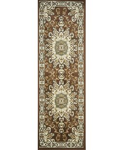 Order Staveley Hand-Tufted Brown/White Area Rug By Charlton Home
