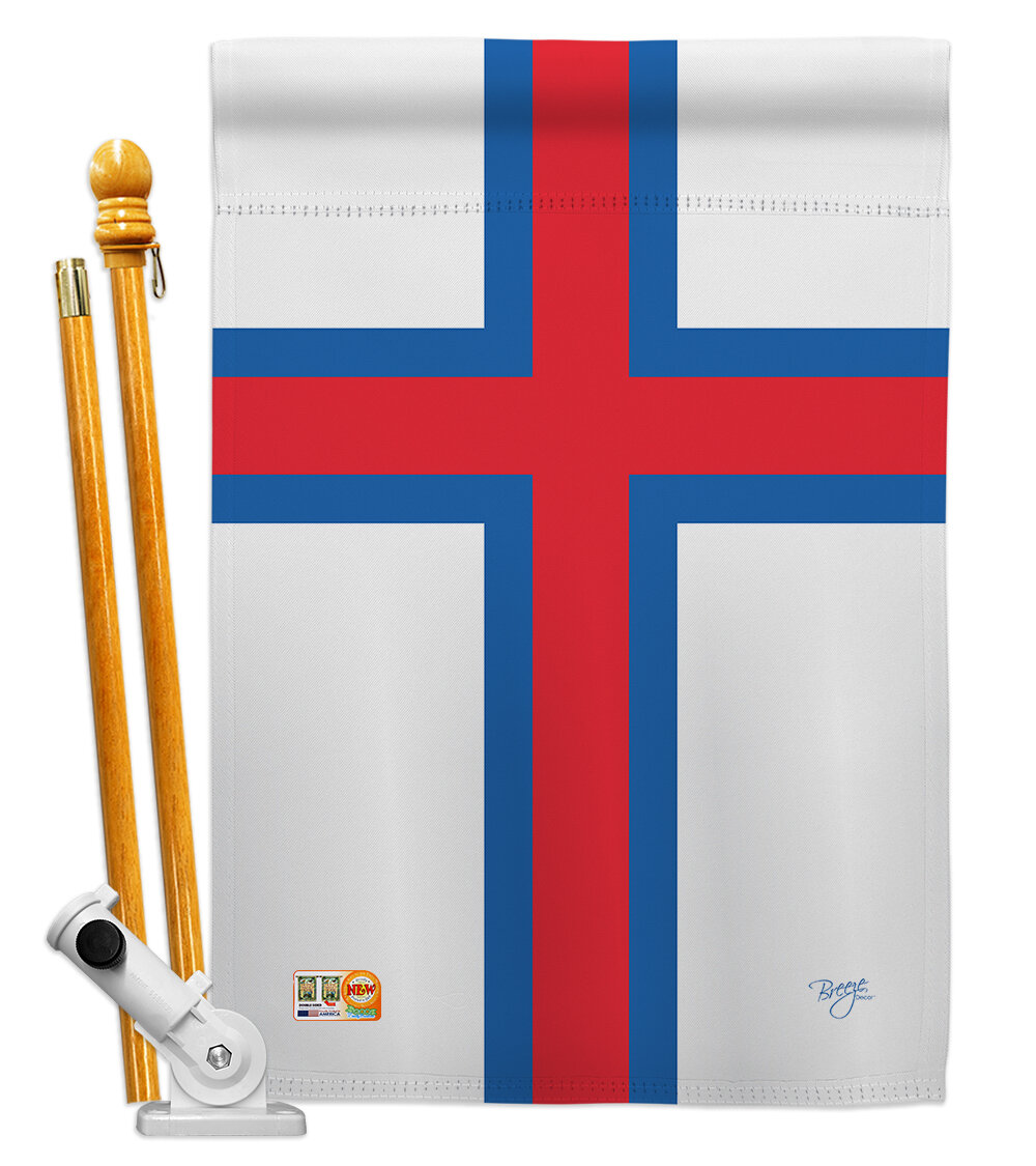 Breeze Decor Faroe Islands Flags Of The World Nationality Impressions Decorative Vertical 2 Sided Polyester 28 X 40 In Flag Set Wayfair Ca