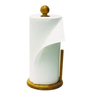 Free-Standing Bamboo Paper Towel Holder