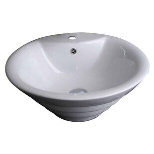 Buying Ceramic Circular Vessel Bathroom Sink with Overflow ByAmerican Imaginations