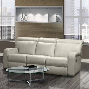 Joel Leather Reclining Sofa by Relaxon