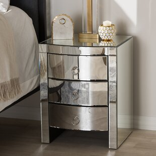 Compare prices Beglin 3 Drawer Nightstand by House of Hampton