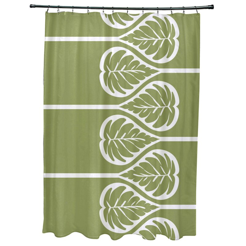 Bay Isle HomeSigsbee Fern 2 Floral Print Shower Curtain