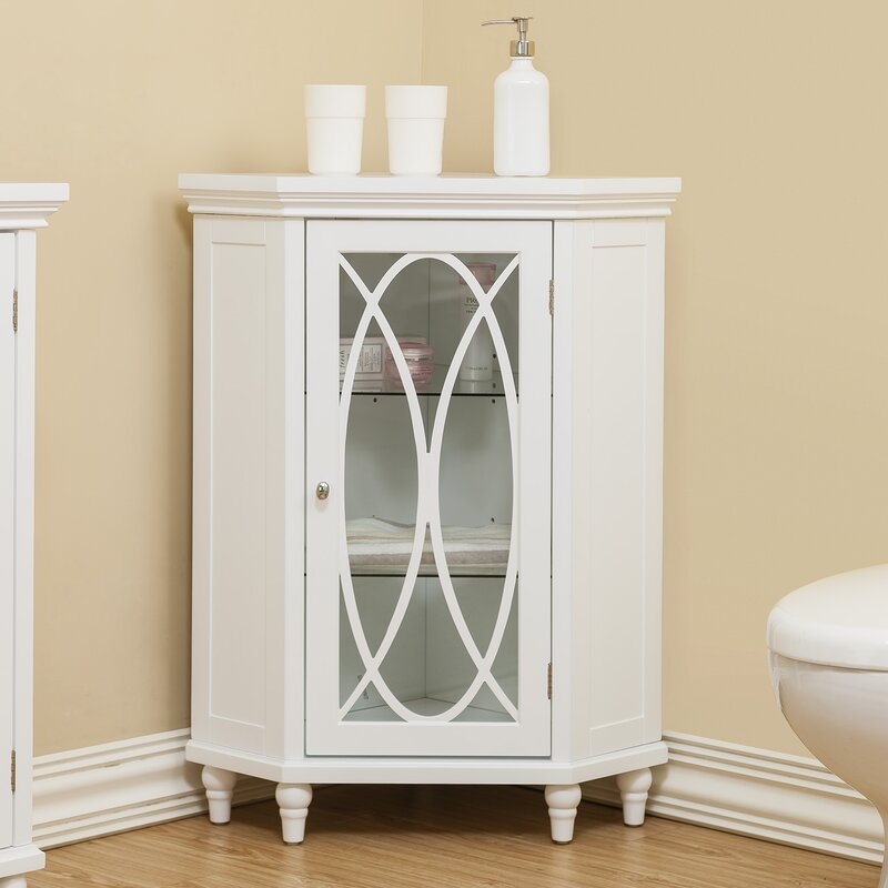 Bourbon Corner Floor 24 75  W x 24 5  H Cabinet. Bathroom Cabinets You ll Love