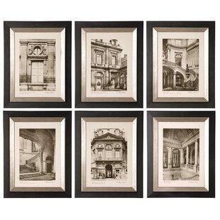 'Paris Scene I, II, III, IV, V, VI' 6 Piece Painting Print Shadow Box Set