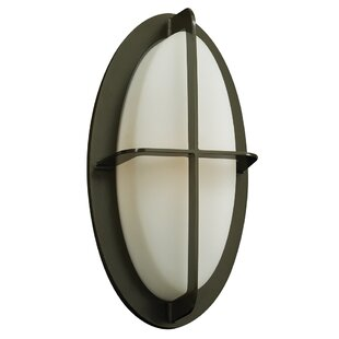 Ebern Designs Keighley 1-Light Outdoor Flush Mount