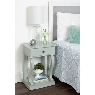 August Grove Astoria Farmhouse Chic 1 Drawer Nightstand