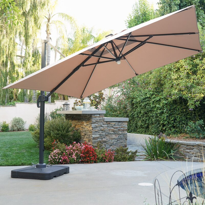 Latitude Run Jendayi 9 5 Square Cantilever Umbrella