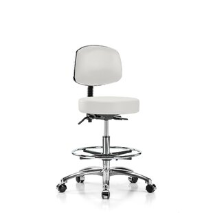 Height Adjustable Doctor Stool With Foot Ring by Perch Chairs & Stools Design