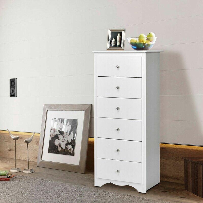 Highland Dunes Padula Clothes Storage Bedroom 6 Drawer Chest Reviews Wayfair