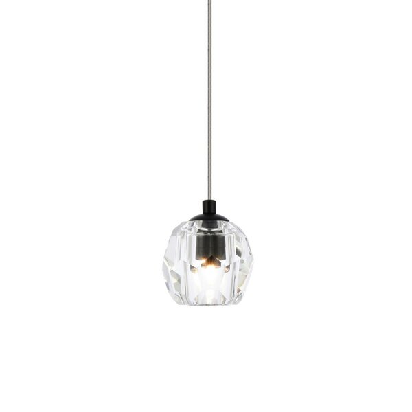 Ayshwarya 1 - Light Single Geometric Pendant with Crystal Accents by Wrought Studio™